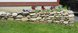 The new stone wall